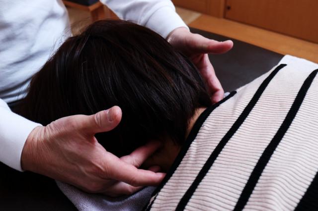 首の歪み検査
